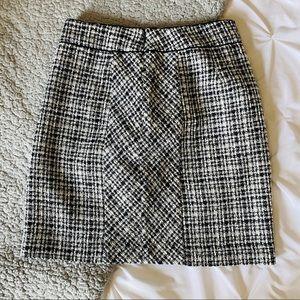 White House Black Market Zip up Boucle Tweed Skirt